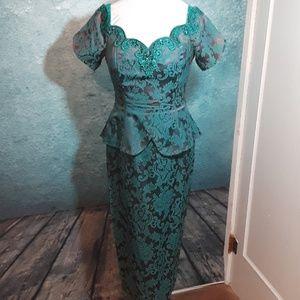 Vintage Scott McClintock tapestry cocktail dress